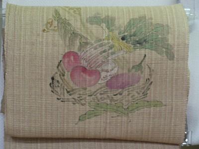 手描き絹シナ布帯