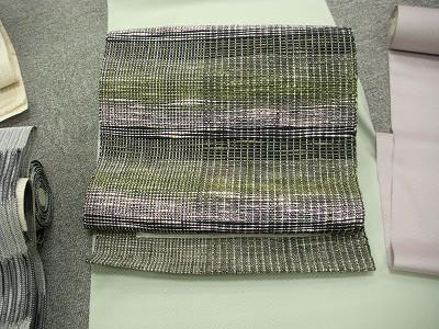 手織り紬帯